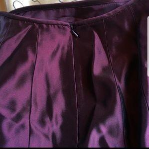 Purple full length formal skirt